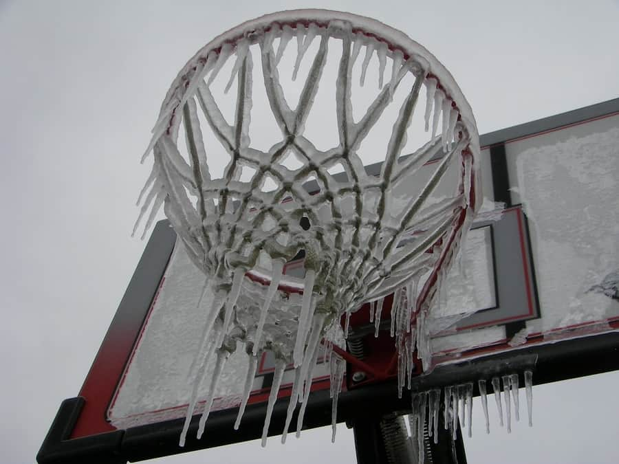winterizing portable basketball hoops